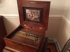 "ANTIQUE POLYPHON SINGLE COMB 15.5"" DISC MUSIC BOX GREAT COND PLAYS BEAUTIFULLY!!"