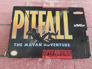 Pitfall The Mayan Adventure - Super Nintendo - SNES - Authentic - Box Only!