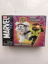 MINIMATES MARVEL UNIVERSE WHITE QUEEN & NEW CYCLOPS 2 PACK ACTION FIGURES SET