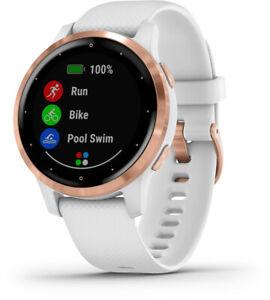 Garmin vivoactive 4S Weiss Rosegold  Sportuhr Fitness-Uhr GPS Puls Bluetooth