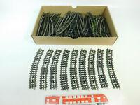 BQ190-2# 65x Trix Express Pappschwelle H0/DC Gleis/Gleisstück gebogen, gut