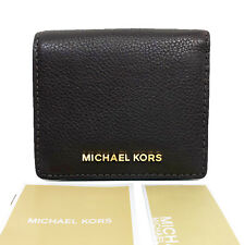 Michael Kors Bedford Carryall Card Case Small Leather Wallet Coffee Brown NWT