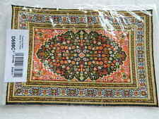 (CP11) DOLLS HOUSE MEDIUM TURKISH STYLE GREEN PATTERNED CARPET