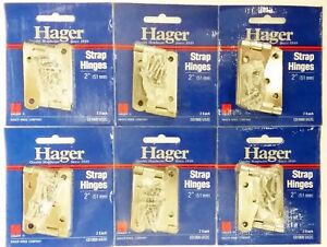 """Hager 2"""" Strap Hinge 1900-US2C Steel Lot Collection 12 Pack"""