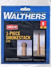 N Scale Walthers Cornerstone 933-3289 One-Piece Smokestack Kit