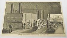 1885 magazine engraving ~ AQUEDUCT TUNNEL Machinery Plant Shaft #10 ~ NYC
