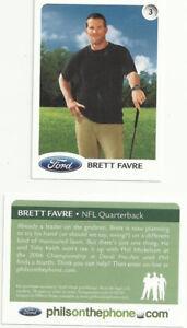 Brett Favre Golf card - 2 Card Lot
