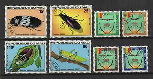 Mali un lot de 8 timbres oblitérés /TR9449