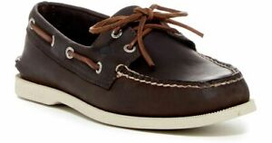Sperry Top-Sider Men's A/O 2-Eye Brown/White Boat Shoes