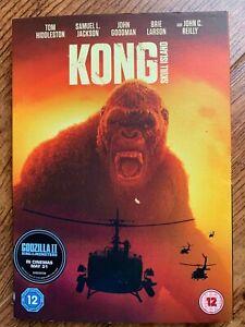 Kong Skull Island DVD 2017 Gorilla King Action Movie w/ Slipcover