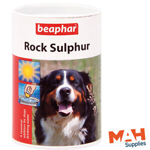 Beaphar Rock Sulphur 100g Water Additive Help Keep Your Dogs Cool In Hot Weather