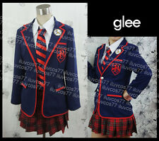 GLEE RACHEL BERRY BRITNEY BRITTANY ACADEMY WARBLERS GIRL SCHOOL UNIFORM COSTUME