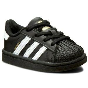 Adidas Superstar  Black White Infant Toddler Baby Girls Boys Shoes Sizes
