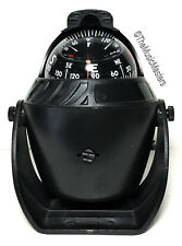 Boat Navigation Pivoting Lighted Marine COMPASS with Mounting Bracket 12V Black