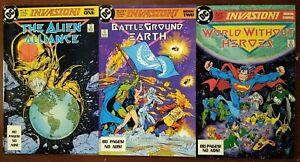 Invasion! #1-3, Todd McFarlane, Full Set, VF+, DC Comics 1988