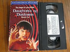 DAUGHTERS OF DARKNESS VHS WIDESCREEN DIRECTOR'S CUT RARE ANCHOR BAY HORROR