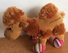 "Camel Plush Jerusalem Stuffed Animal Souvenir Soft Embroidered 11"" Collectible"