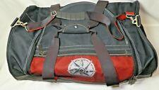 Vintage Marlboro Duffle Bag Black Red Adventure Team Gym Bag Nap Sack 90s