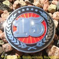 15 Years of Geocaching 2-PIECE Geocoin (Choice of Version)