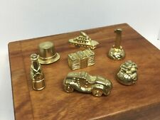Monopoly Deluxe Edition -Parts- 7 Gold Tokens With POT of GOLD