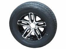 "ATBR 205/75R14 LRC 6 PR Radial Trailer Tire on 14"" 5 Lug Aluminum Trailer Wheel"
