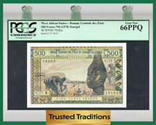 TT PK 702Kn 1978 WEST AFRICAN STATES 500 FRANCS PCGS 66 PPQ GEM NONE FINER!