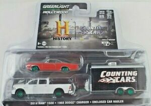 1:64 GreenLight Counting Cars Hollywood Hitch/Tow 8 Dodge Ram Charger Green