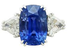 13.91 ct Ceylon Sapphire and 1.70 ct Diamond 18 ct White Gold Dress Ring