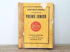 Rare! 1913 Kodak Premo Junior camera operating manual instructions book