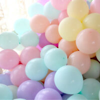 "10-100Pcs 10"" Macaron Latex Balloon Celebration Party Wedding Birthday Decor"