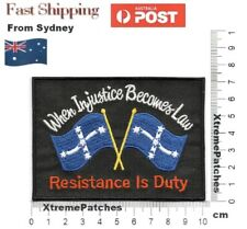 Eureka Flags Resistance Embroidered Iron-on Sew Rider Vest Patch Badge #1032