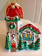 "Christopher Radko ""Snowing In Heaven"" Ornament Church Yuletide decorations Snow"
