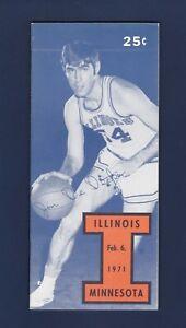 University of Illinois vs Minnesota 1971 College Basketball program