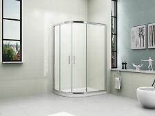 1000x800mm OFFSET QUADRANT BATHROOM SHOWER ENCLOSURE+ LEFT HAND TRAY+WASTE