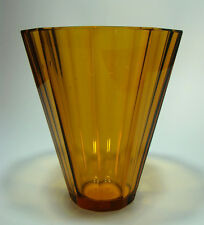 Haida Vase Kristallglas 10 Facetten -  WW Tradition - Bohemian Glass c 1925