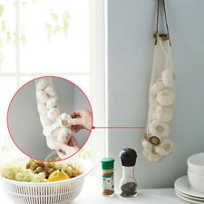 New Mesh Net Breathable Fruit Vegetable Garlic Onion Hanging Storage Bag Kitchen