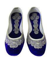 Women Shoes Indian Handmade Khussa Leather Ballerinas Mojari UK 2.5-7.5 EU 35-42