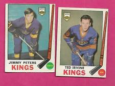 1969-70 OPC LA KINGS TED IRVINE + JIMMY PETERS RC   CARD (INV# C3630)