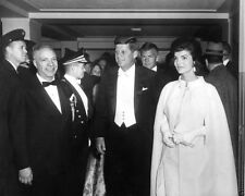 President John F. Kennedy and Jackie arrive at Inaugural Ball New 8x10 Photo