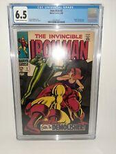 Marvel Iron Man #2 Cgc 6.5 1968 FREE SHIPPING Death of Drexel Cord