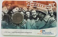 Nederland 2020 75 jaar Bevrijding in coincard / zinken oorlogsgeld 1 cent (1942)
