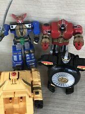 Power Rangers Zeo Red Battlezord,Pyramidas,Warrior Wheel, Zeo Megazord Complete
