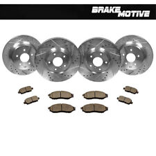 Front+Rear Drill Slot Brake Rotors + Ceramic Pads Fit Infiniti EX35 G35 G37 350Z