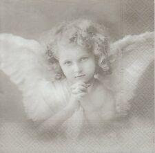 2 Serviettes en papier Ange priant Paper Napkins Angel Prayer Sagen Vintage