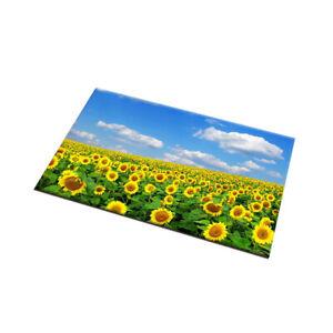 Sunny Blue Sky Cloud Sunflowers Area Rugs Kitchen Bedroom Living Room Floor Mat
