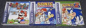 NINTENDO GAMEBOY ADVANCE GBA EMPTY BOXES & INSTRUCTIONS FOR MARIO & SONIC