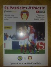 Programme Dynamo Kiev - St Patrick's Athletic Dublin Ireland 2008 friendly