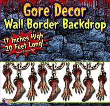 Halloween Gore Decor BLOODY BODY PARTS wall border backdrop Party decor