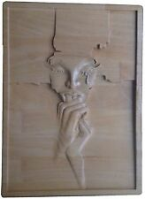"Carved wooden picture ""Weeping Woman"" size 350 * 250 *20 mm"