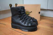 Dr MARTENS TREVONNA Black Pisa Smooth Leather Platform Boots UK 4 EU 37 US 6